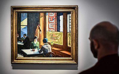 """Pintura do artista norte-americano Edward Hopper chamada """"Chop Suey"""", faz parte da coleção de Ebsworth A Barney. A coleção está sendo exposta na casa de leilões Christie em Paris."""