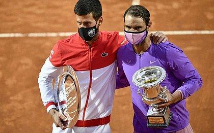 Djokovic e Nadal disputaram final em Roma, vencida pelo espanhol