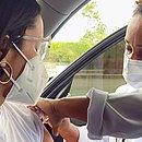 Juliette foi vacinada no Rio, nesta terça (3)
