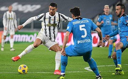 Cristiano Ronaldo marcou um dos gols na vitória por 3x0 da Juventus