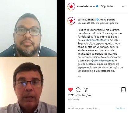 Donaldson Gomes conversa com Dênio Cidreira