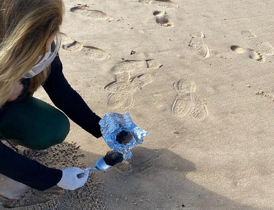 Amostras foram coletadas na manhã desta sexta-feira na praia da Pituba