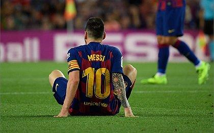 Técnico do Barcelona diz não saber quando Messi voltará ao time