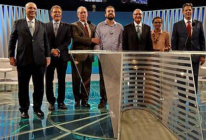 Henrique Meirelles, Álvaro Dias, Ciro Gomes, Guilherme Boulos, Geraldo Alckmin, Marina Silva e Fernando Haddad participaram do debate