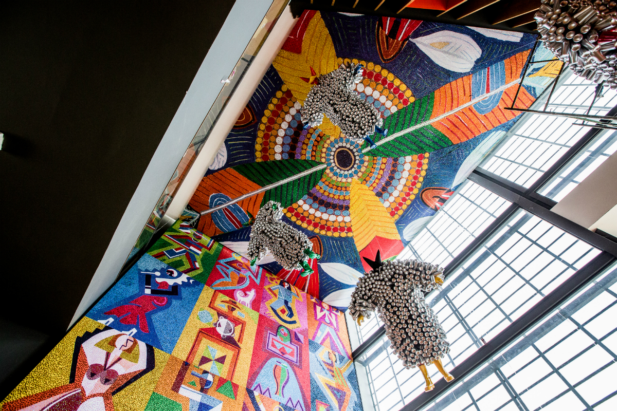 Painel de J. Cunha destaca o Carnaval de Madre de Deus