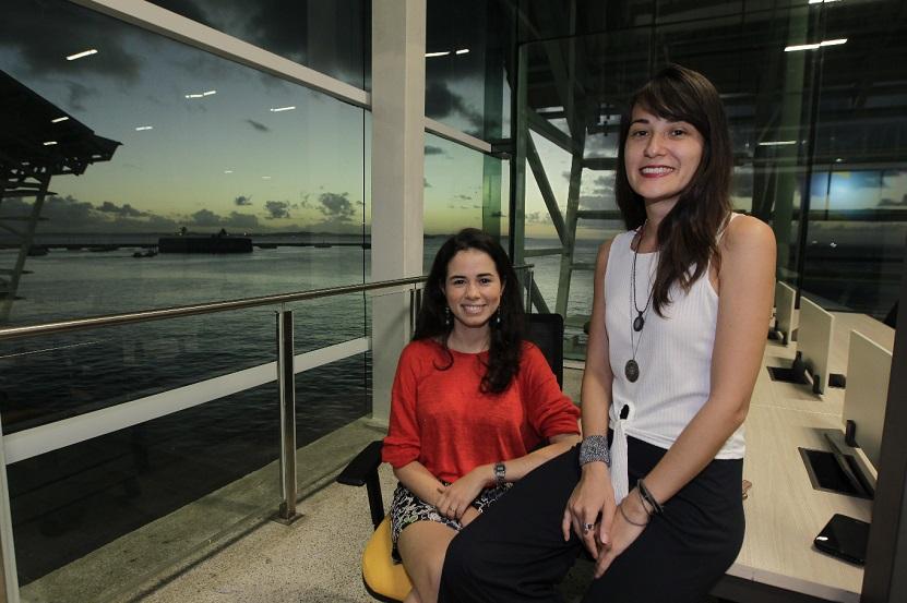 As sócias Saville Alves e Gabriela Tiemy estão fazendo novos clientes no local
