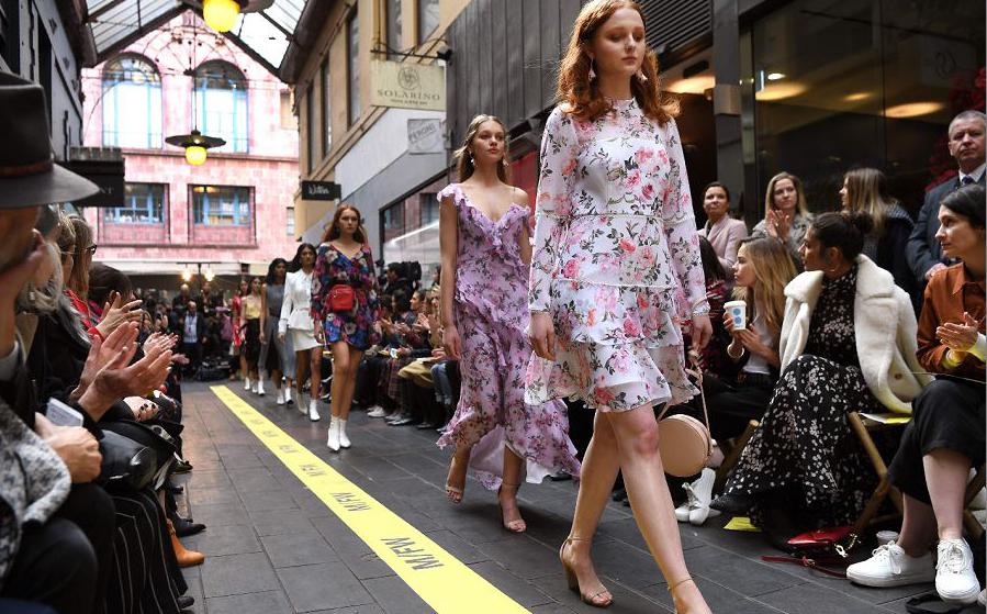 Semana de moda em Melbourne , na Austrália.