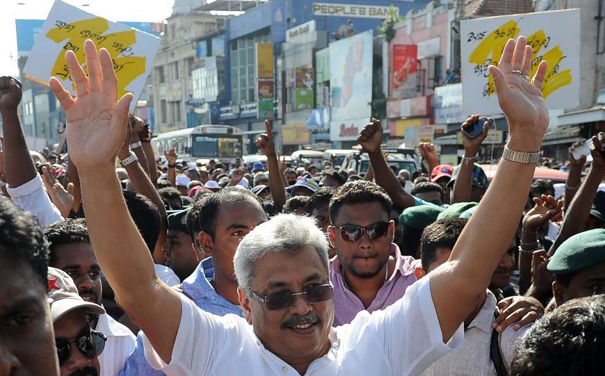 Manifestação anti-governamental em Colombo no Sri Lanka.