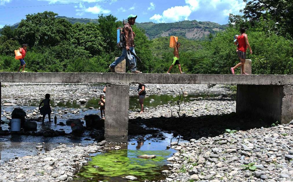 Município de San Francisco de Coray, a 100 quilômetros ao sul de Tegucigalpa, uma comunidade rural em estado de emergência devido à seca, desde que as 170,300 famílias locais sofrem por escassez alimentar.