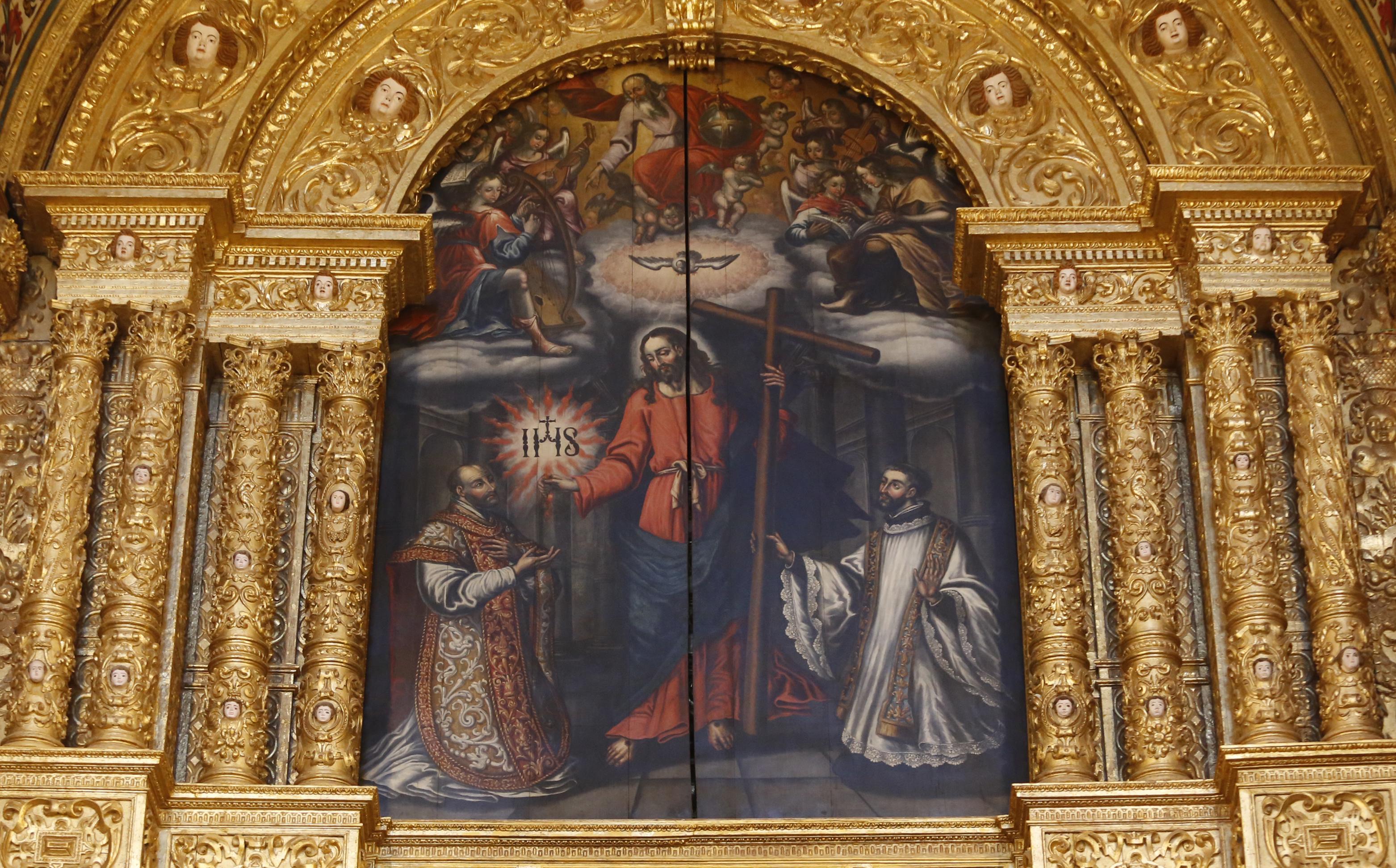 Esta pintura foi descoberta atrás do altar-mor da Catedral.