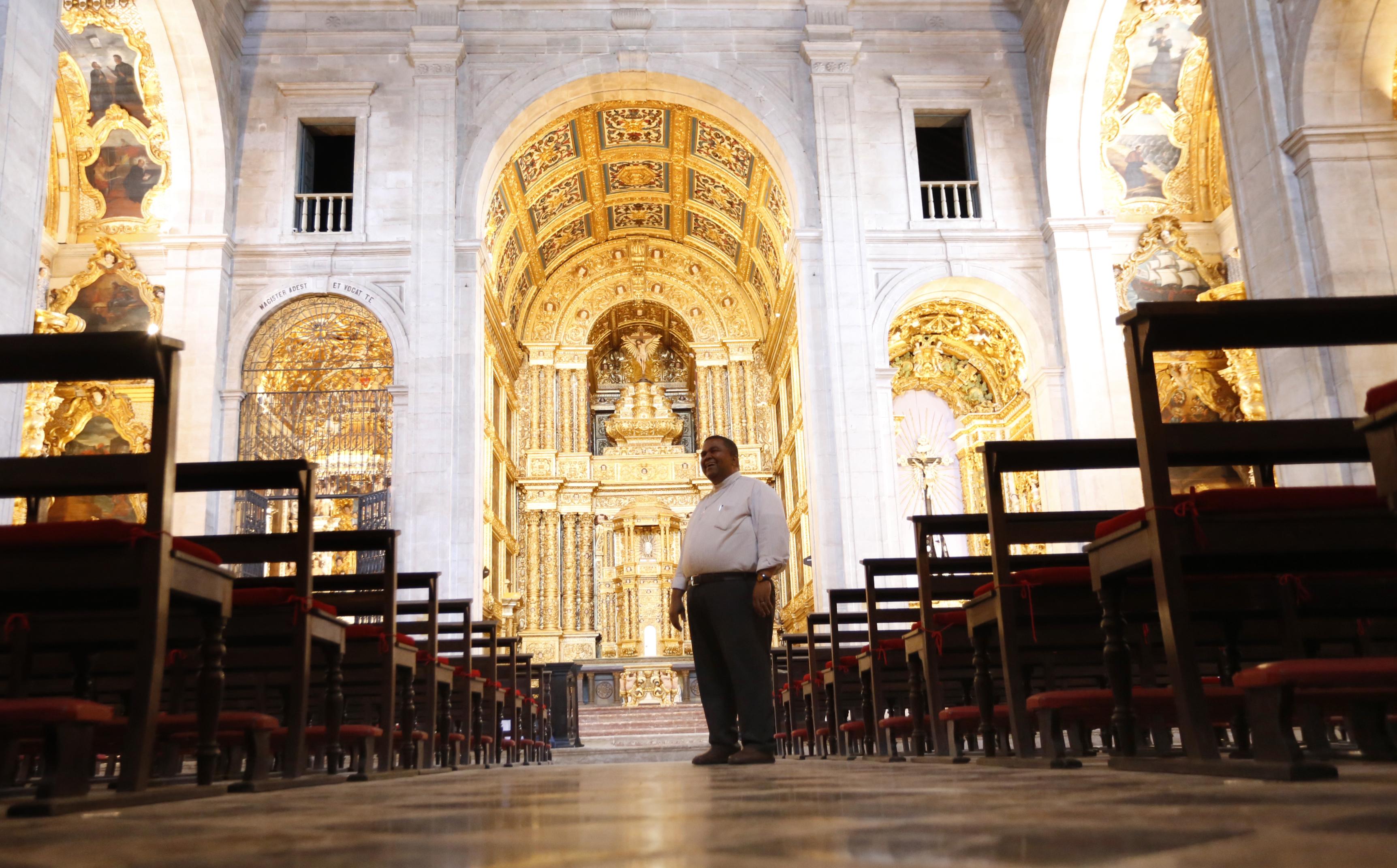 O pároco já pensa em estratégias para a manutenção deste tesouro arquitetônico.