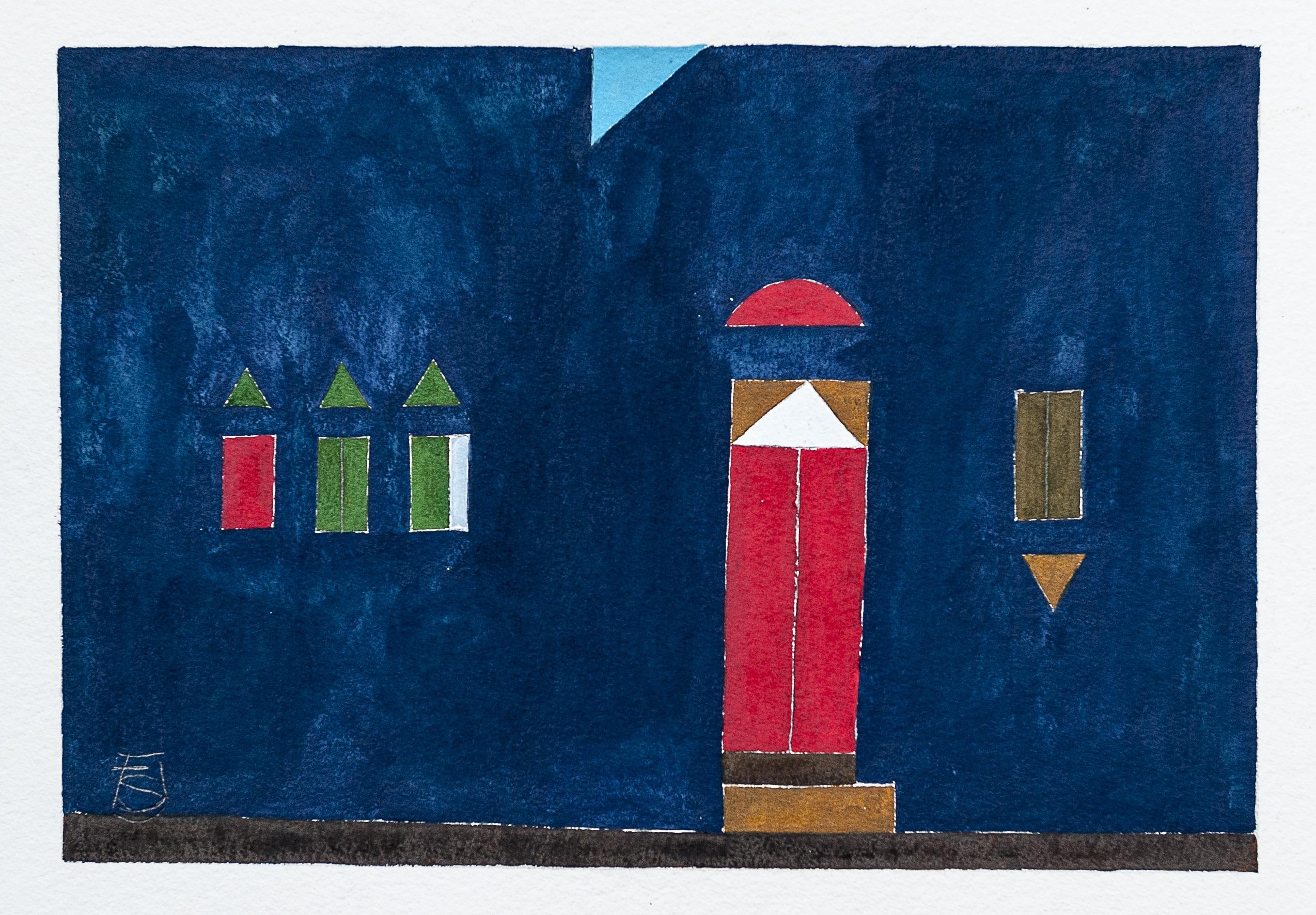 Pinturas de Adilson Santos brincam entre sentimentos atuais e cenários que lembram o passado