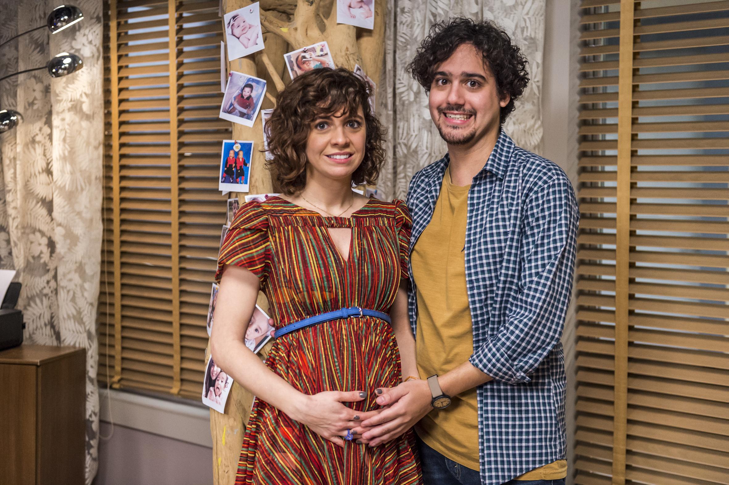 Pedro (George Sauma) e Tais (Renata Gaspar)