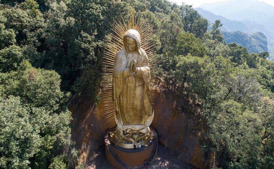 Vista da Virgem de Guadalupe em Ocuilan, no Mexico.