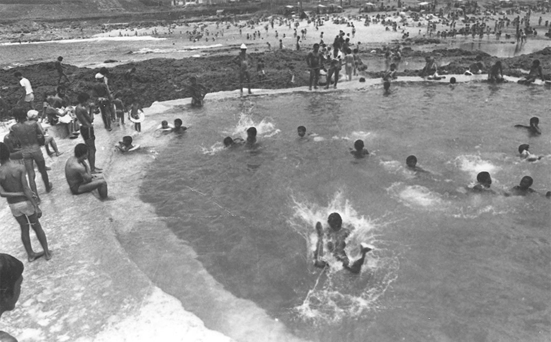 Praia da Ondina em 1984