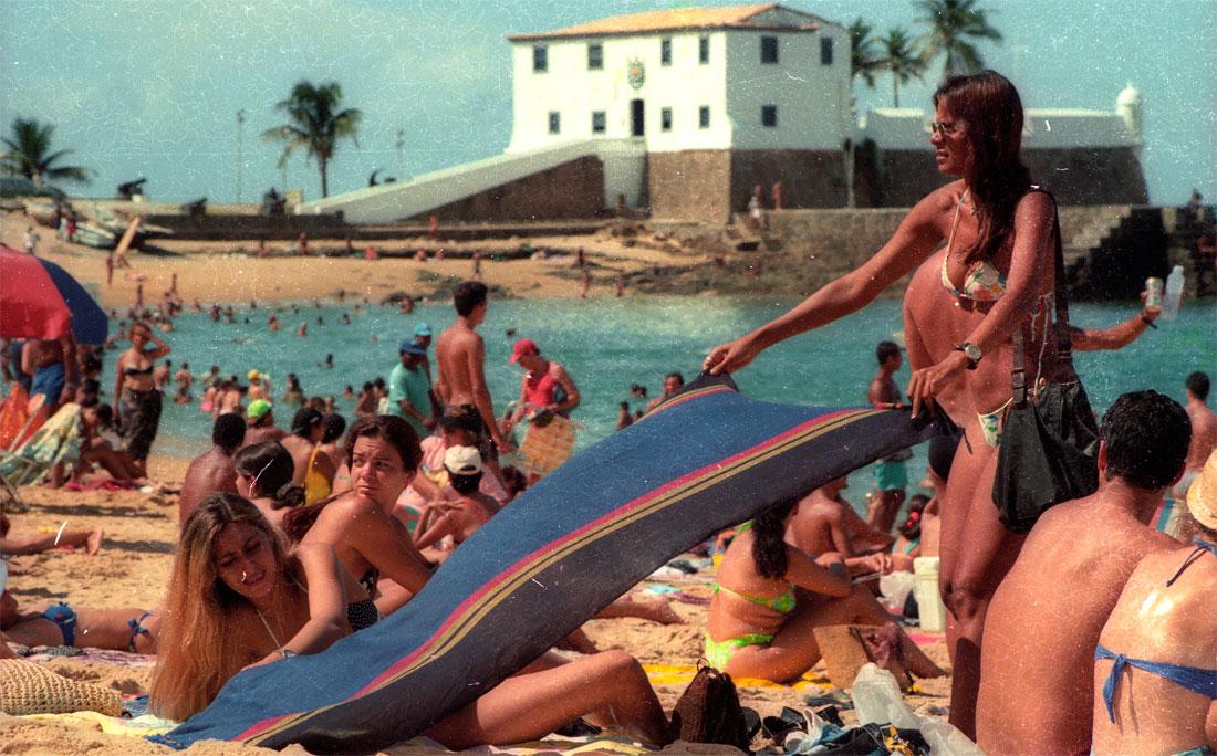 Em janeiro de 1997, sempre ela, a praia do Porto