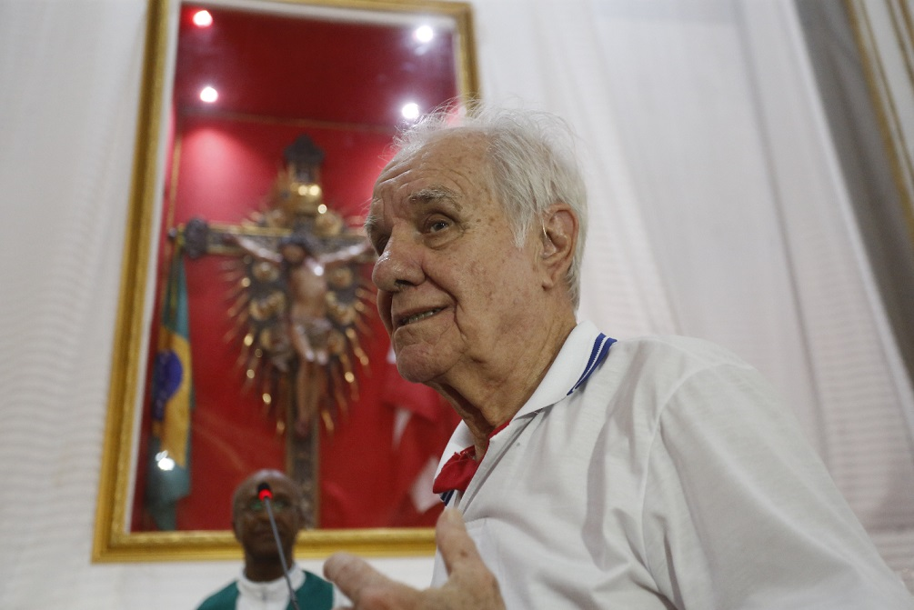 Mestre Evaristo de Macedo está com 85 anos