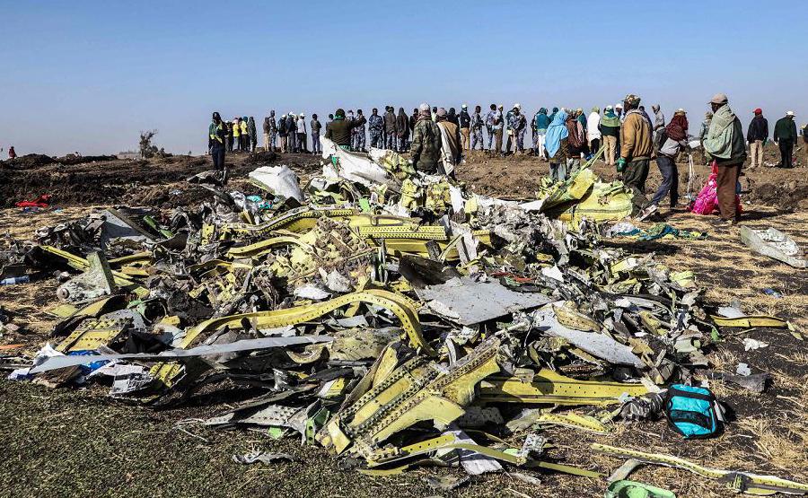 Local do acidente da Etiópia Airlines perto de Bishoftu, uma cidade de cerca de 60 quilómetros a sudeste de Adis Abeba, Etiópia.
