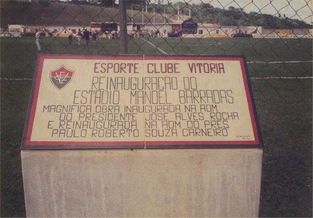 Foi feita uma placa para marcar reinauguração em 1991