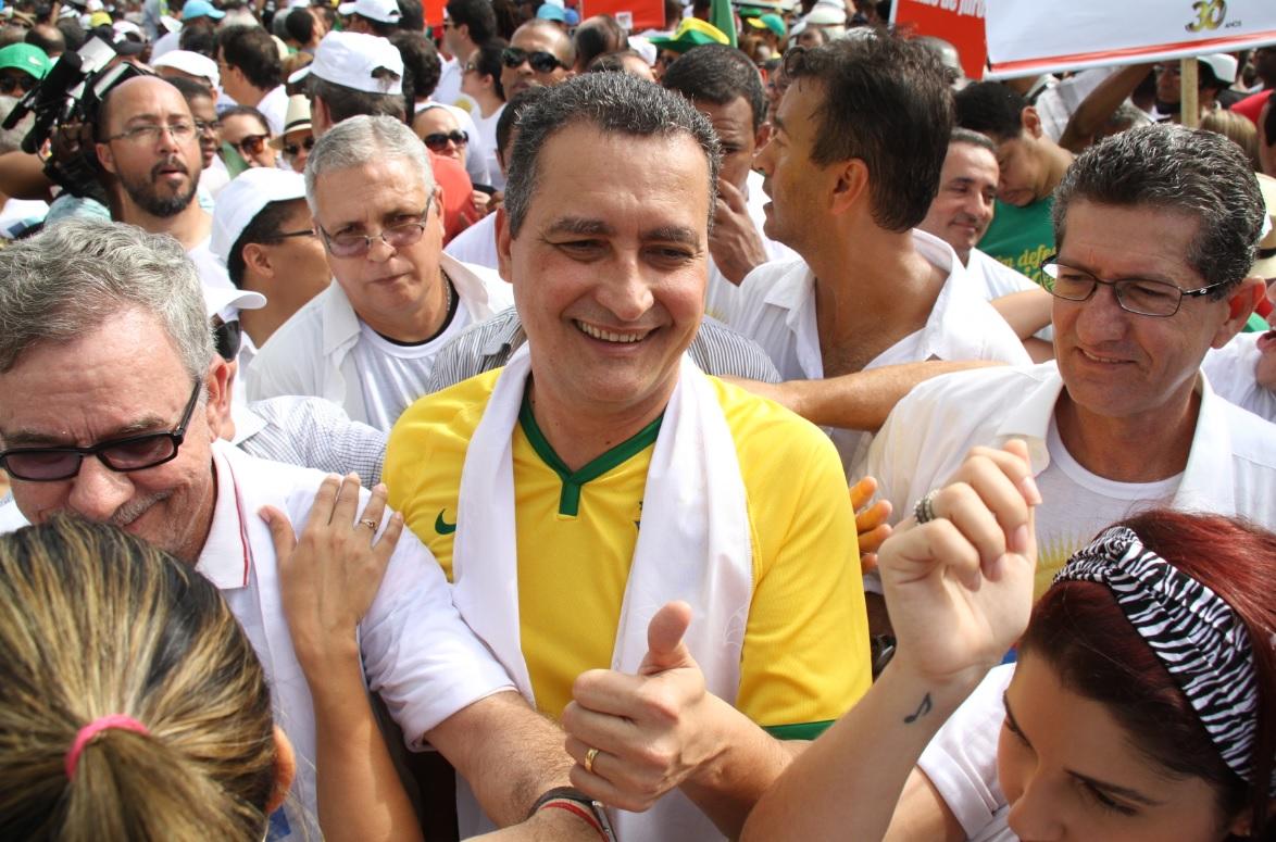 O Governador Rui Costa, ainda candidato ao cargo, em 2014