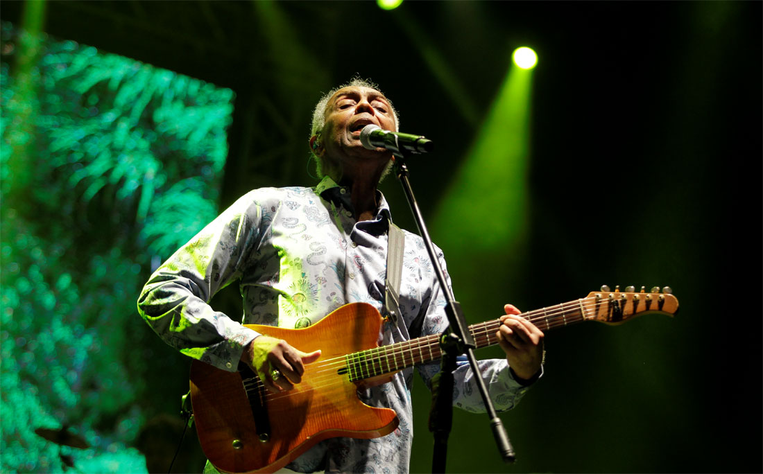 Gilberto Gil se apresentou durante o evento