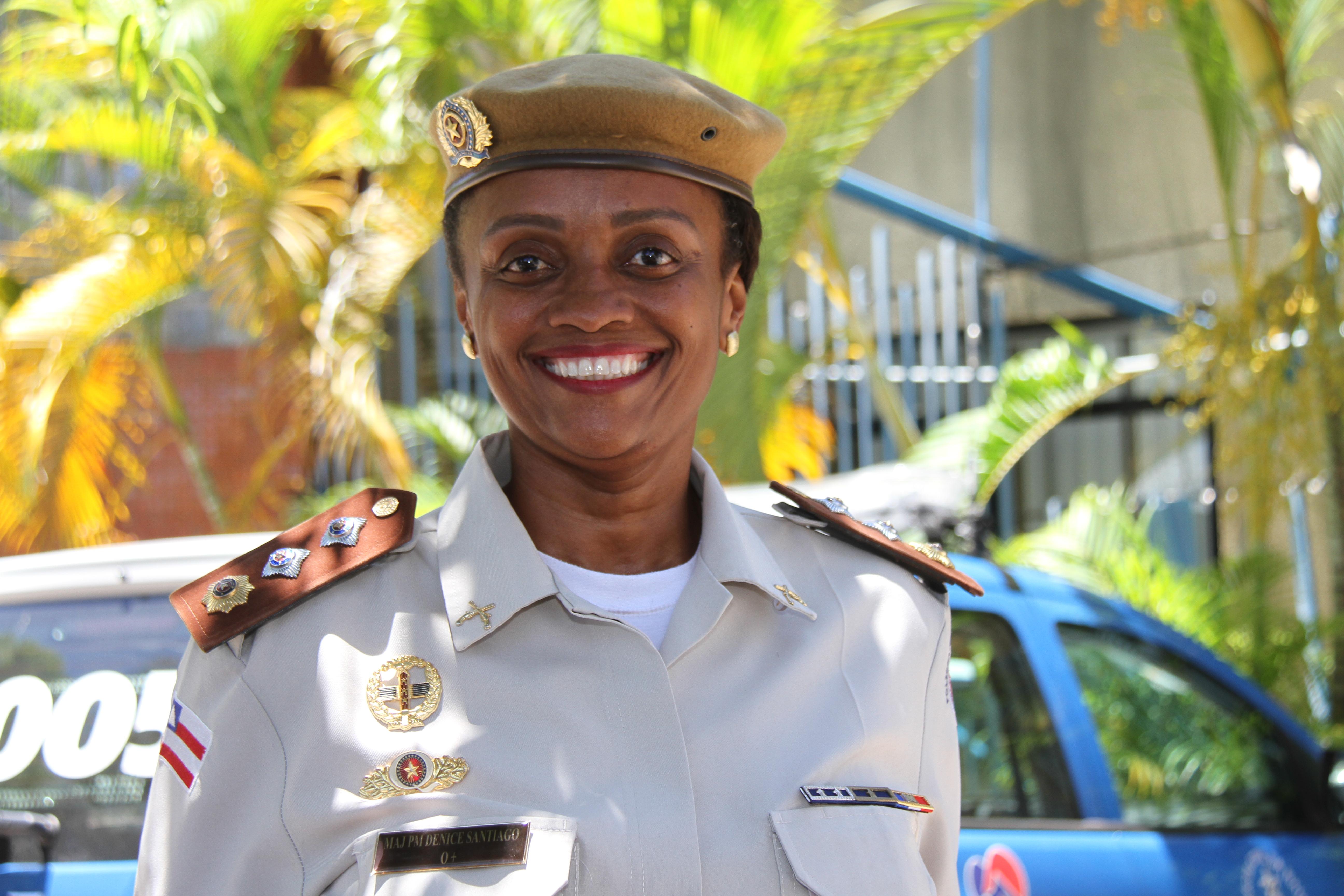 Major Denice Santiago, idealizadora e comandante da Ronda Maria da Penha na Polícia Militar da Bahia