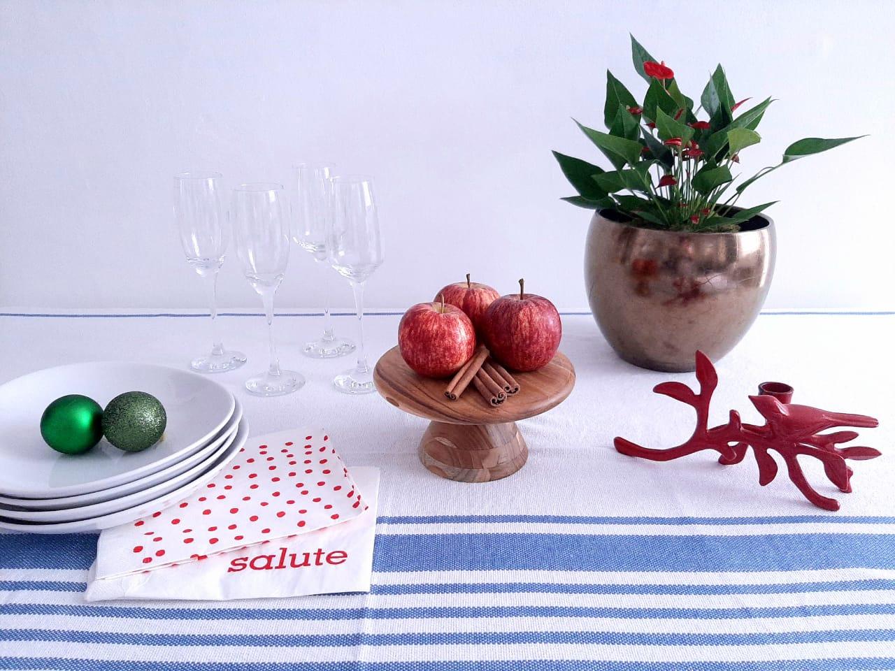 Sugestão de decoração de mesa natalina