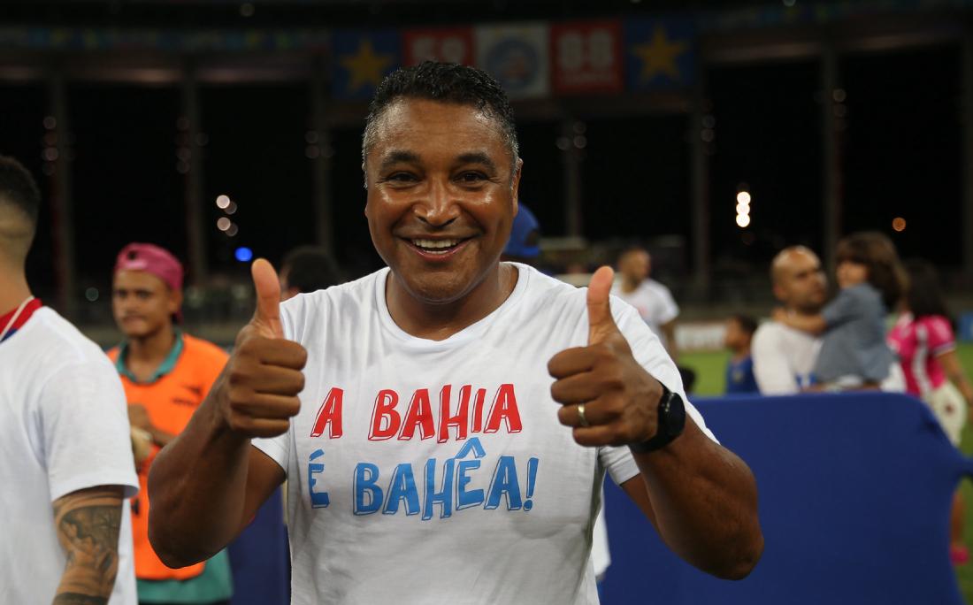 Técnico Roger Machado completa um ano à frente do time do Bahia