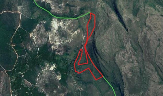 Imagem do novo mapa feito para o Boqueirão/À direita, o Parque Nacional da Chapada Diamantina
