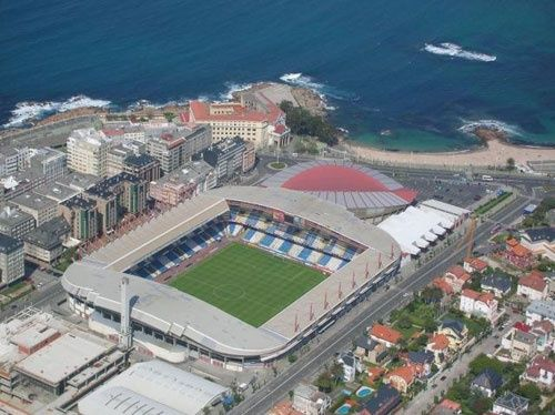 Vista aérea do Estádio Riazor