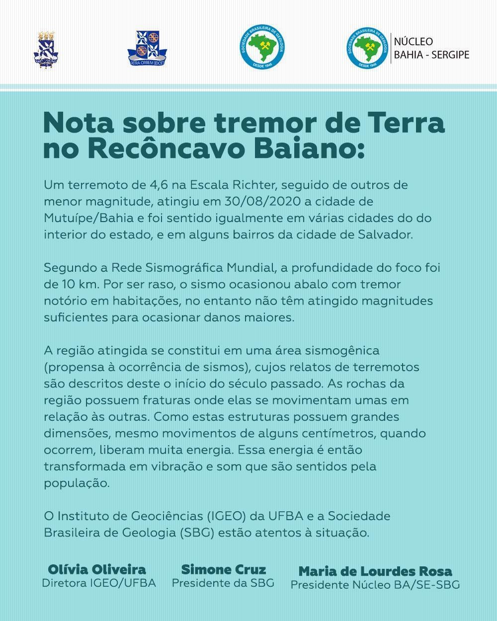 Chão tremeu: moradores de várias cidades baianas acordam com 'terremoto' - Jornal CORREIO   Notícias e opiniões que a Bahia quer saber