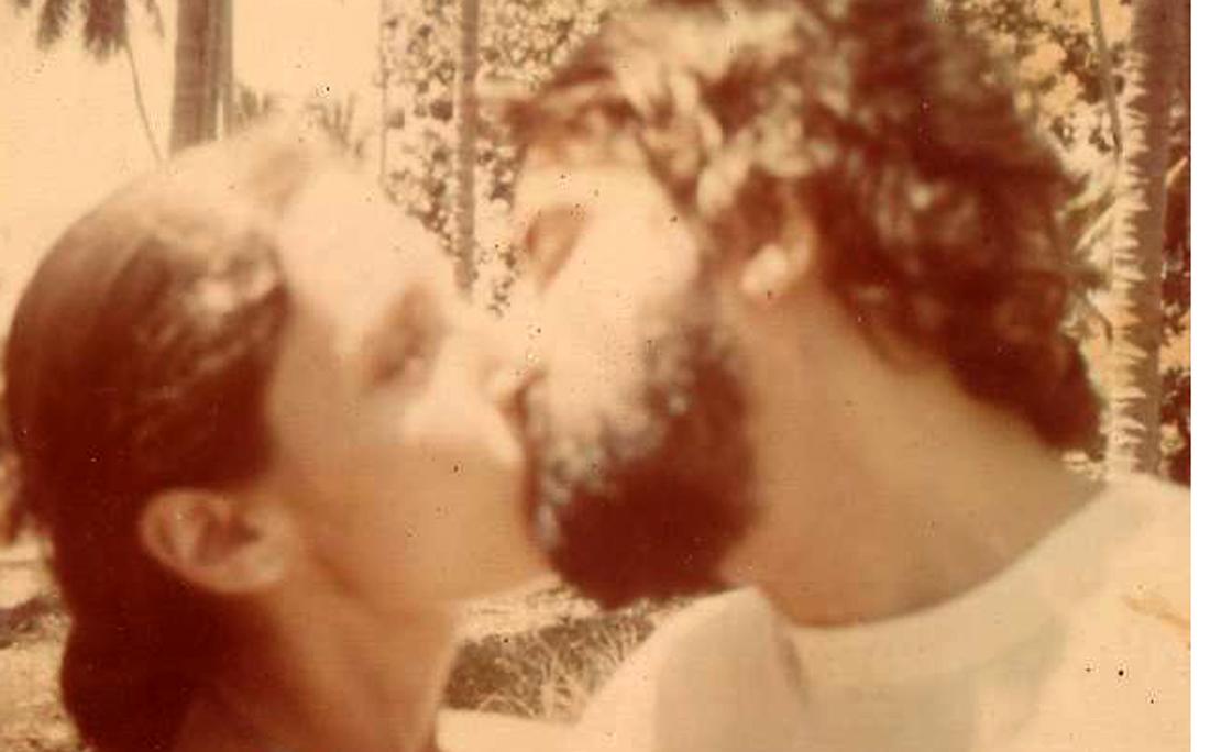 André Setaro e a segunda esposa Ediane do Monte em férias no Ceará, em 1978.