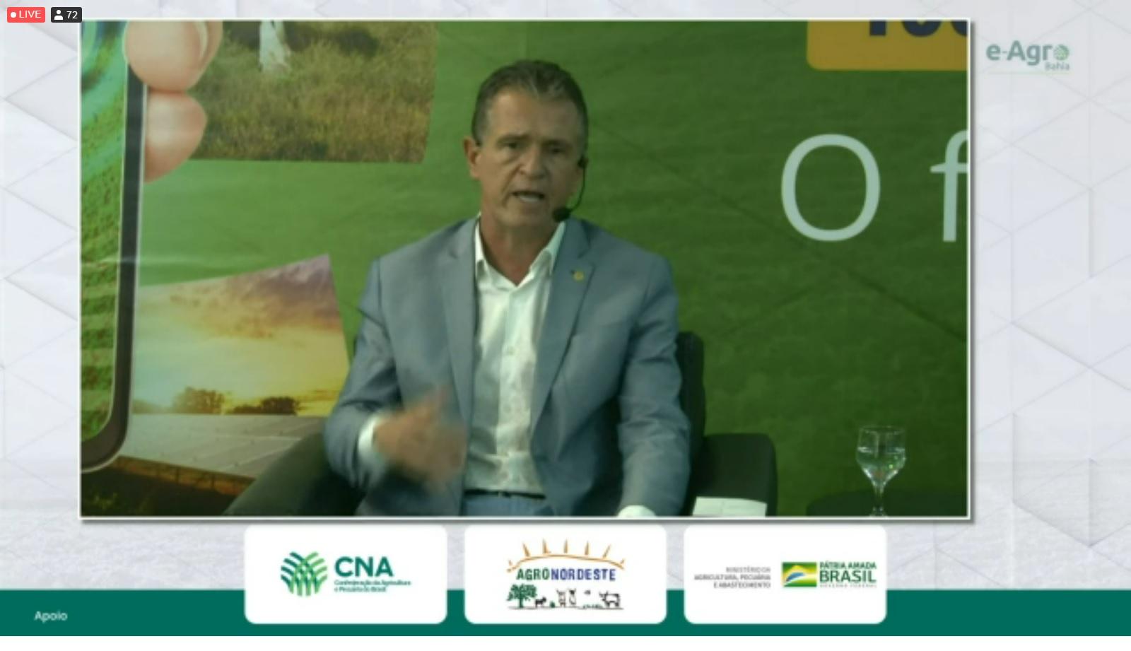 Presidente da FAEB, Humberto Miranda