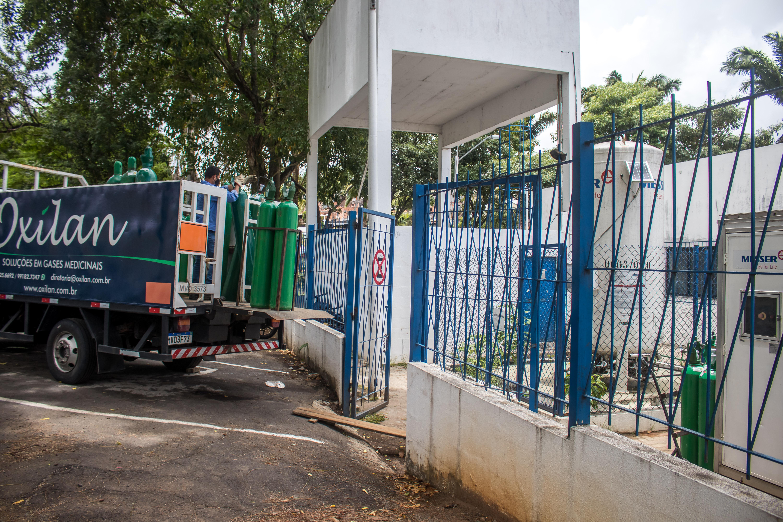 Reabastecimento de oxigênio na UPA dos Barris