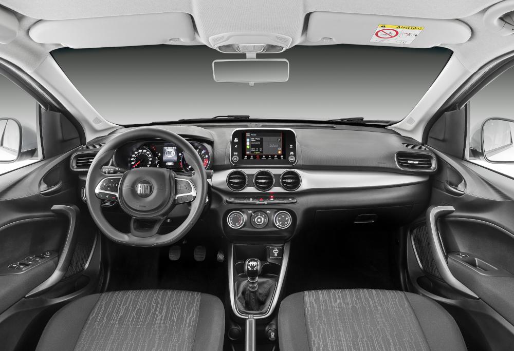 No Argo 1.3 Drive, da Fiat, a central multimídia é um equipamento de série