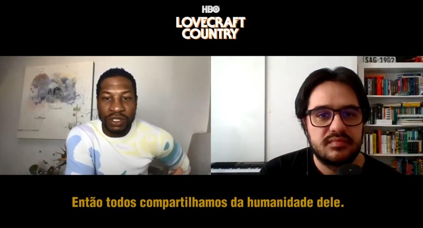 Com Jonathan Majors na divulgação de Lovecraft Country, série da HBO